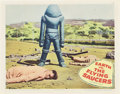 "Movie Posters:Science Fiction, Earth vs. the Flying Saucers (Columbia, 1956). Lobby Cards (3) (11""X 14"").. ... (Total: 3 Items)"