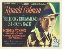 "Bulldog Drummond Strikes Back (United Artists, 1934). Title Lobby Card (11"" X 14"")"