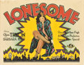 "Movie Posters:Romance, Lonesome (Universal, 1928). Title Lobby Card (11"" X 14"").. ..."