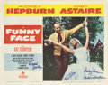 "Movie Posters:Romance, Funny Face (Paramount, 1957). Autographed Lobby Card (11"" X 14"")....."