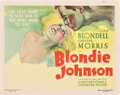 "Movie Posters:Drama, Blondie Johnson (Warner Brothers, 1933). Title Lobby Card (11"" X14"").. ..."