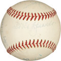 Autographs:Baseballs, Circa 1950 Hall of Famers Signed Baseball with Speaker, Baker, Foxx....