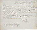 Autographs:Military Figures, United States Colored Troops: Confederate Surrender Demand Yazoo City, Mississippi, Clerical Copies. One page, front and ver...