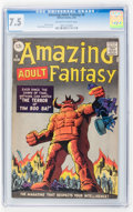 Silver Age (1956-1969):Science Fiction, Amazing Adult Fantasy #9 (Marvel, 1962) CGC VF- 7.5 Off-white towhite pages...