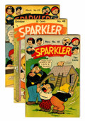 Golden Age (1938-1955):Miscellaneous, Sparkler Comics Group - Rockford pedigree (United Features Syndicate, 1945-47).... (Total: 5 Comic Books)