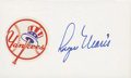 Autographs:Index Cards, Roger Maris Signed Index Card....