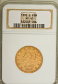 Liberty Eagles: , 1895-S $10 XF45 NGC. NGC Census: (40/155). PCGS Population (43/122). Mintage: 49,000. Numismedia Wsl. Price for NGC/PCGS co...