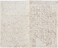 Military & Patriotic:Civil War, Pvt. Richard B. Loomis, 21st Mass. Vols. Handwritten Letter Detailing the Siege and Battle at Knoxville, Tennessee. ...