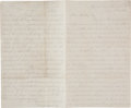 Military & Patriotic:Civil War, Capt. William H. Murphy, Co. H, 109th Pennsylvania Vols. Letter Detailing the Fighting at Culp's Hill, Gettysburg July 2 & 3, ...