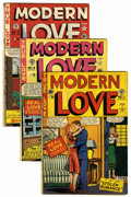 Golden Age (1938-1955):Romance, Modern Love Group (EC, 1949-50) Condition: Average VG-.... (Total:4 Comic Books)