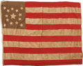 Military & Patriotic:Civil War, Rare and Attractive 14 Star US Flag with Probable Secessionist Use, Accompanied by Detailed Analysis from Renowned Flag Author...