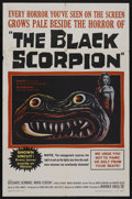 "Movie Posters:Science Fiction, The Black Scorpion (Warner Brothers, 1957). One Sheet (27"" X 41""). Science Fiction. Starring Richard Denning, Mara Corday, C..."
