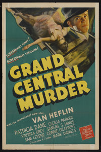 "Grand Central Murder (MGM, 1942). One Sheet (27"" X 41""). Mystery. Starring Van Heflin, Patricia Dane, Cecilia..."