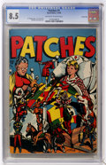 Golden Age (1938-1955):Miscellaneous, Patches #1 Carson City pedigree (Rural Home , 1945) CGC VF+ 8.5 Off-white to white pages....