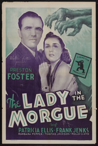 """The Lady in the Morgue (Universal, R-1940s). One Sheet (27"""" X 41""""). Mystery. Starring Preston Foster, Patricia..."""