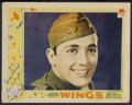 "Movie Posters:War, Wings (Paramount, 1927). Lobby Card (11"" X 14""). War. StarringClara Bow, Charles ""Buddy"" Rogers, Richard Arlen, Jobyna Rals..."