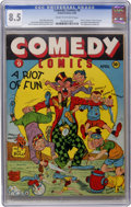Golden Age (1938-1955):Humor, Comedy Comics #9 (Timely, 1942) CGC VF+ 8.5 Cream to off-white pages....
