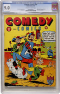 Golden Age (1938-1955):Humor, Comedy Comics #10 (Timely, 1942) CGC VF/NM 9.0 Off-white to white pages....