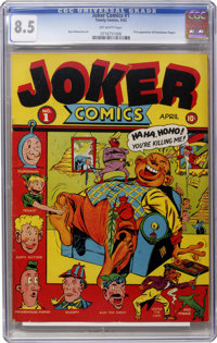 Joker Comics #1 (Timely, 1942) CGC VF+ 8.5 Off-white pages
