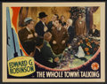 """Movie Posters:Comedy, The Whole Town's Talking (Columbia, 1935). Lobby Card (11"""" X 14""""). Comedy. Starring Edward G. Robinson, Jean Arthur, Arthur ..."""