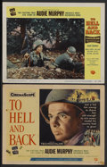 "Movie Posters:War, To Hell and Back (Universal, 1955). Title Card (11"" X 14'0 andLobby Card (11"" X 14""). War. Starring Audie Murphy, David Jan...(Total: 2)"