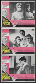 """Movie Posters:Hitchcock, Psycho (Paramount, R-1969). Lobby Cards (3) (11"""" X 14""""). Hitchcock.Starring Anthony Perkins, Janet Leigh, Vera Miles, John ... (Total:3)"""