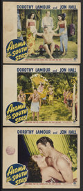"""Movie Posters:Adventure, Aloma of the South Seas (Paramount, 1941). Lobby Cards (3) (11"""" X14""""). Drama. Starring Dorothy Lamour, Jon Hall, Lynne Over...(Total: 3)"""