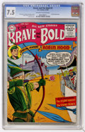 Golden Age (1938-1955):Miscellaneous, The Brave and the Bold #5 (DC, 1956) CGC VF- 7.5 Off-white to white pages....