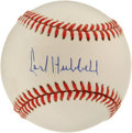 Autographs:Baseballs, Carl Hubbell Single Signed Baseball. We've can scarcely recall seeing a nicer example of King Carl Hubbell's signature adde...