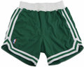 Basketball Collectibles:Uniforms, 1991 Larry Bird Game Worn Shorts. Green Champion road game shortsworn by the Celtics' legendary number thirty-three Larry ...