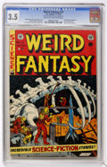 Golden Age (1938-1955):Science Fiction, Weird Fantasy #22 (EC, 1953) CGC VG- 3.5 Light tan to off-whitepages....