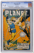 Golden Age (1938-1955):Science Fiction, Planet Comics #46 (Fiction House, 1947) CGC VF- 7.5 Off-whitepages....