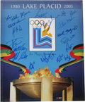 """Hockey Collectibles:Others, 1980 USA Olympic Hockey Team Signed Poster. Visually superior 18x22"""" poster celebrates the 25th Anniversary of the US Olymp..."""