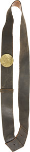 Military & Patriotic:Civil War, Civil War Black Bridle Leather over the Shoulder Sling for the M1840 NCO/ Musician's Sword. Overall about mint/unissued wit...