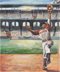 Baseball Collectibles:Others, Buck O'Neil Painting....