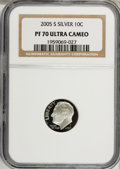 Proof Roosevelt Dimes, 2005-S 10C Silver PR70 Ultra Cameo NGC. PCGS Population (220/0).Numismedia Wsl. Price for NGC/PCGS coi...
