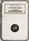 Proof Roosevelt Dimes: , 2000-S 10C Clad PR70 Ultra Cameo NGC. PCGS Population (99/0).Numismedia Wsl. Price for NGC/PCGS coin i...