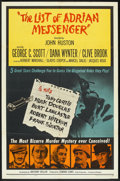 "Movie Posters:Mystery, The List of Adrian Messenger (Universal, 1963). One Sheet (27"" X 41""). Mystery.. ..."