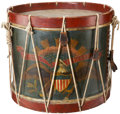 Military & Patriotic:Civil War, Historic Federal Regulation Drum Used by Young Pennsylvanian Wounded in Action....