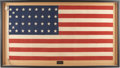 Military & Patriotic:Civil War, Noteworthy 34 Star Flag Used by New Jersey Officer....