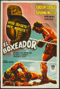 "Movie Posters:Sports, El Boxeador (Pel Mex, 1958). Argentinean Poster (29"" X 43""). Sports.. ..."