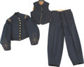 Military & Patriotic:Civil War, Outstanding and Rare New Jersey Officer's Jacket, Vest and Trousers....