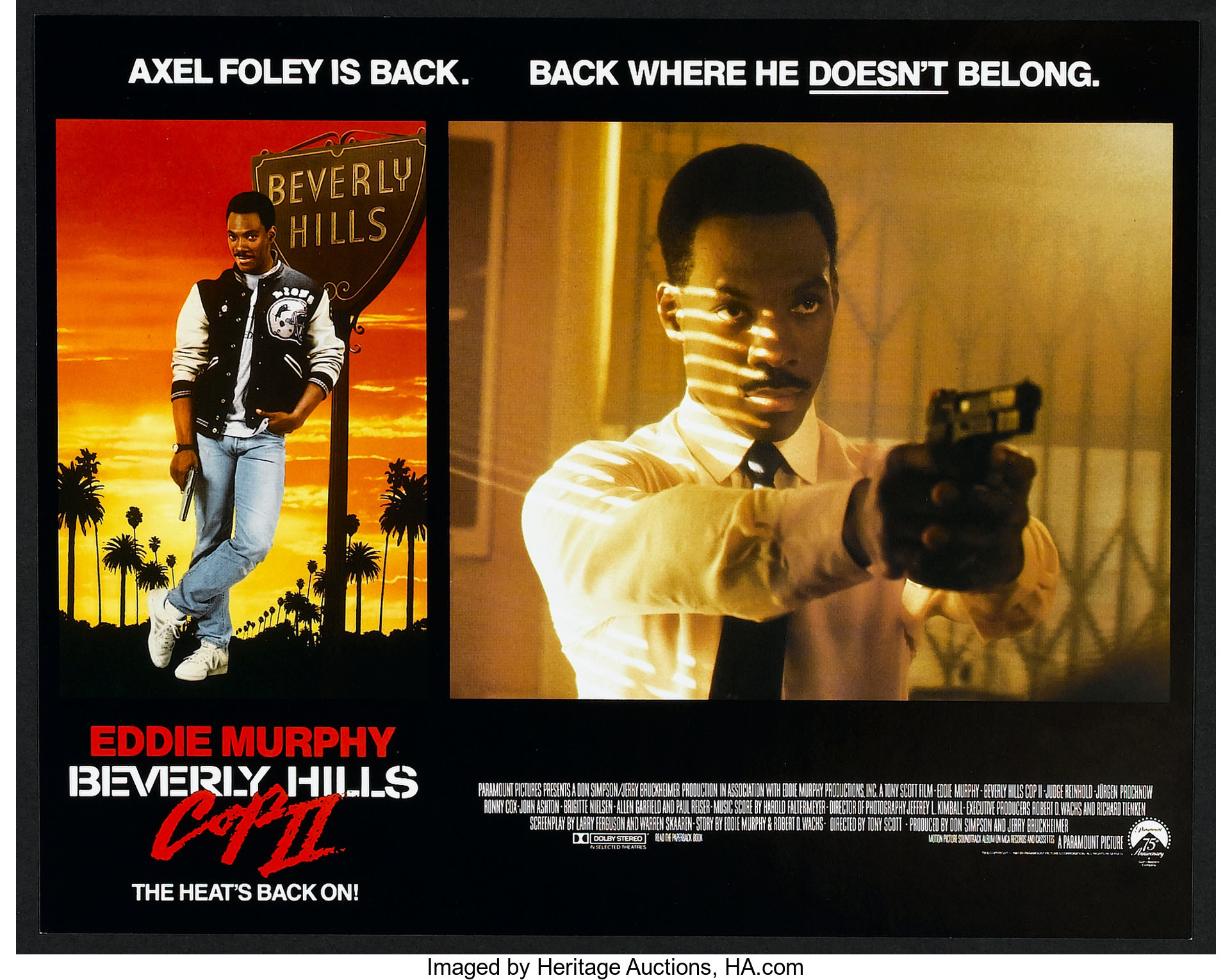 Beverly Hills Cop Ii Paramount 1987 Lobby Card Set Of 14 11 X Lot 39 Heritage Auctions