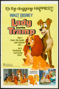 "Movie Posters:Animated, Lady and the Tramp (Buena Vista, R-1972). One Sheet (27"" X 41""),Pressbooks (2) (Multiple Pages, Various Sizes) and Ad Slick...(Total: 4 Items)"