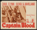 "Movie Posters:Adventure, Captain Blood (Warner Brothers, R-1947 and R-1951). Lobby Cards (8)(11"" X 14""). Adventure.. ... (Total: 8 Items)"
