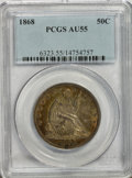 Seated Half Dollars: , 1868 50C AU55 PCGS. PCGS Population (6/30). NGC Census: (2/22).Mintage: 417,600. Numismedia Wsl. Price for NGC/PCGS coin i...