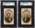 "Non-Sport Cards:Lots, 1897-1901 T95 Leroy Cigars ""Presidents"" SGC-Graded pair (2). ..."
