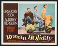 "Movie Posters:Romance, Roman Holiday (Paramount, 1953). Lobby Cards (2) (11"" X 14"").Romance.. ... (Total: 2 Items)"