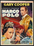 "Movie Posters:Adventure, The Adventures of Marco Polo (RKO, Early 1950s). Post War Belgian(14"" X 18.75""). Adventure.. ..."