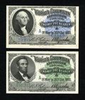 "Miscellaneous:Other, World's Columbian Exposition 1893 Lincoln and Washington ""A""Tickets. ... (Total: 2 notes)"